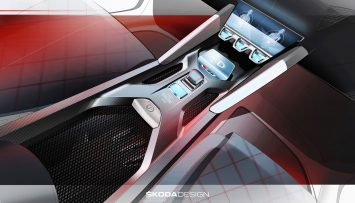 Skoda Vision RS Concept Interior Design Sketch Render