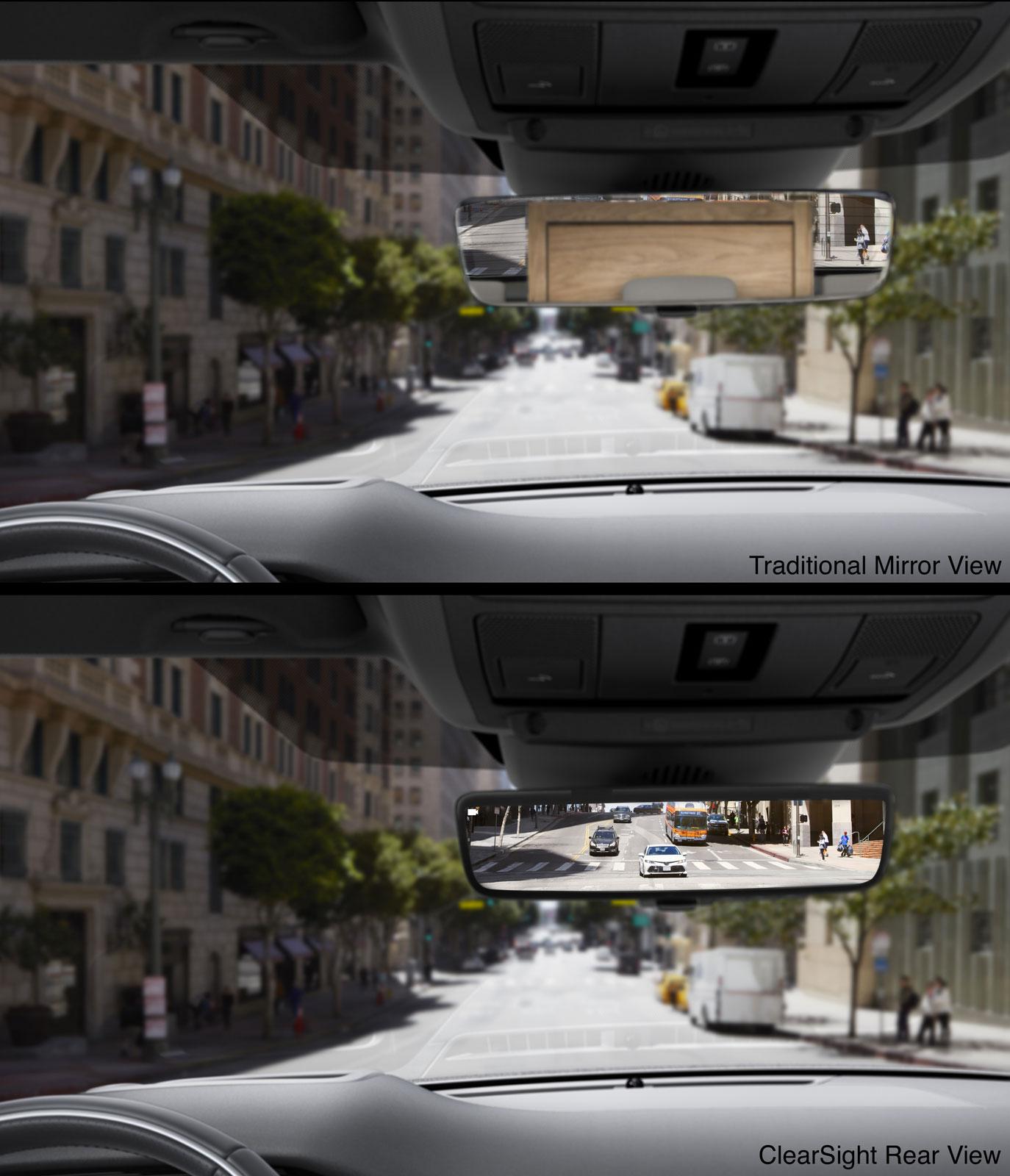 new range rover evoque interior clearsight rear view