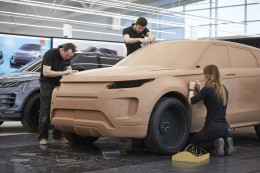 New Range Rover Evoque Clay Modeling