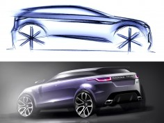 New Range Rover Evoque: Design Sketches