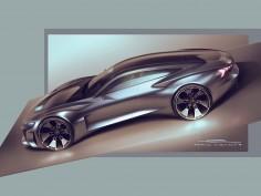 Audi e-tron GT Concept: design sketches