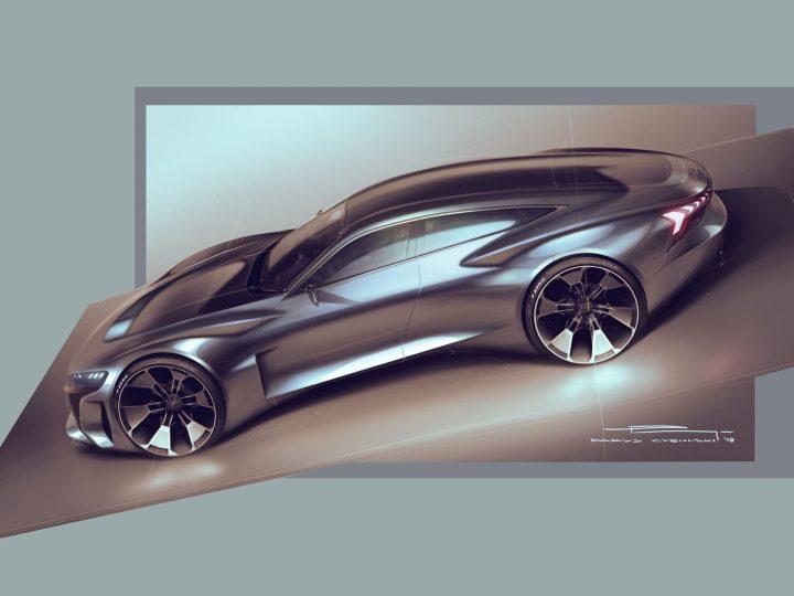 Audi E Tron Gt Concept Design Sketches