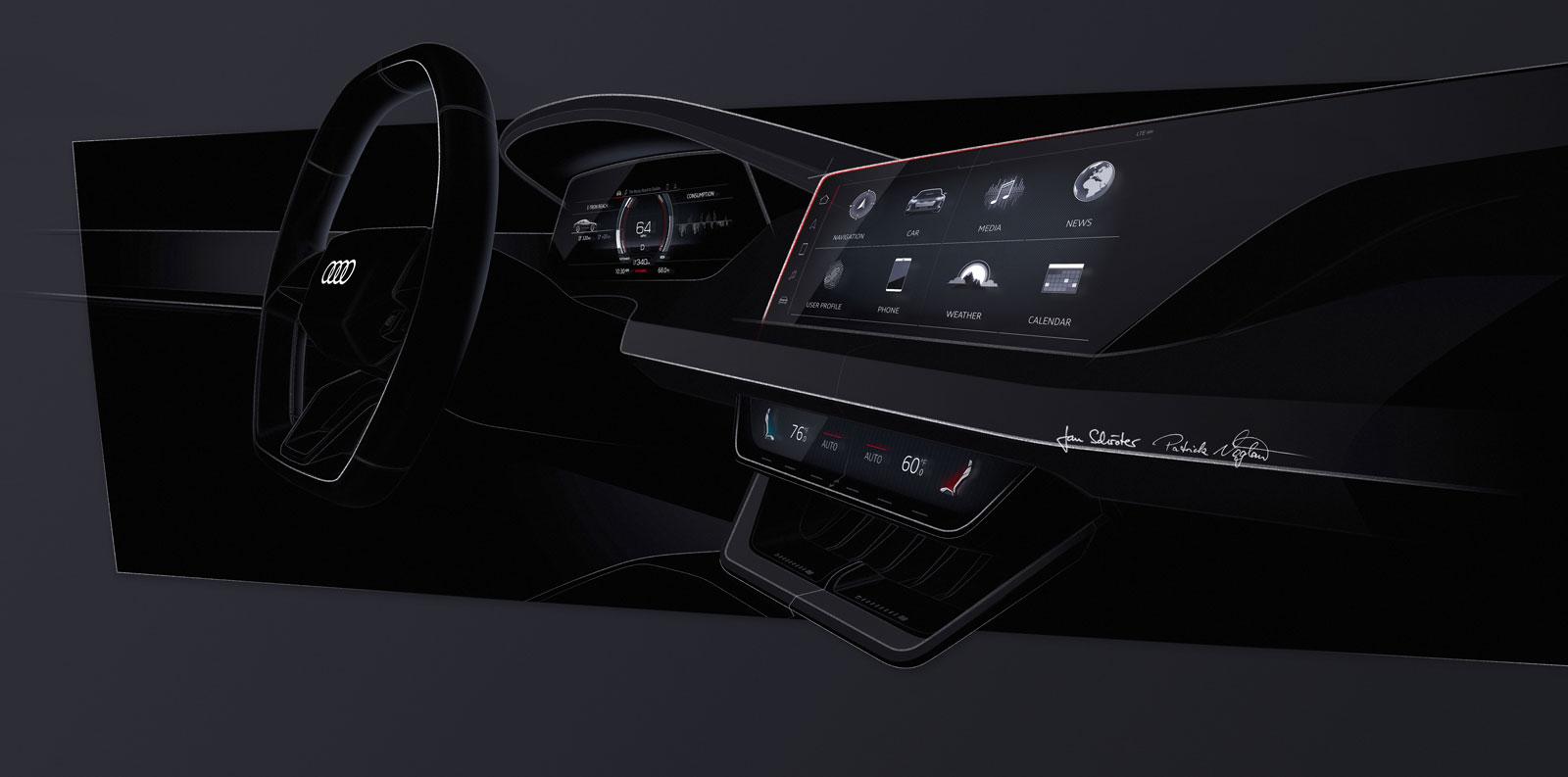 audi e tron gt concept interior design sketch render car body design car body design