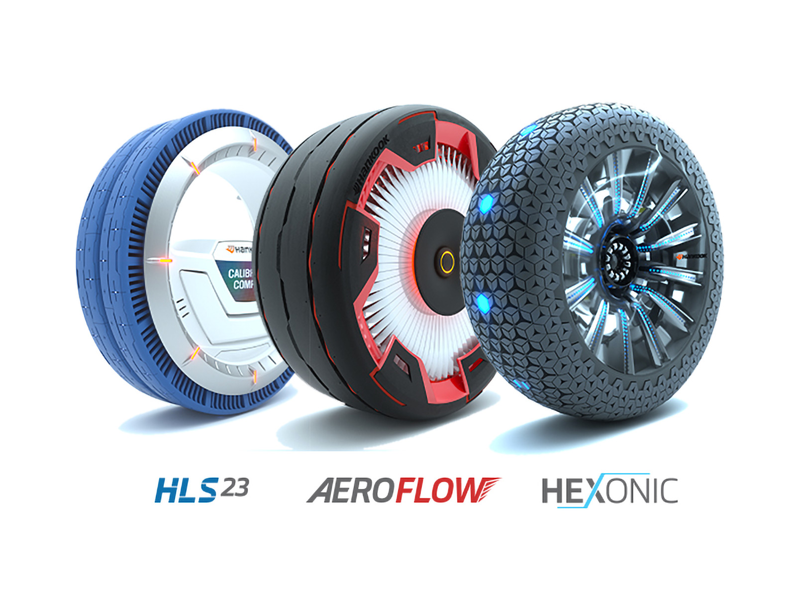 Hankook Aeroflow HLS23 and Hexonic Concept Tires
