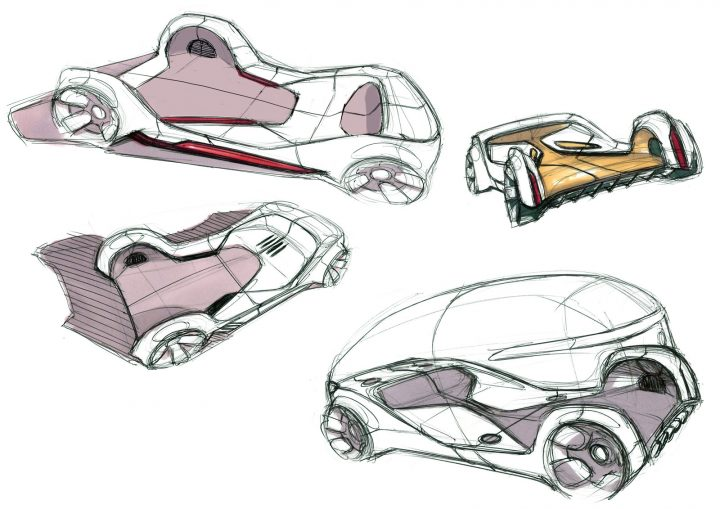 Mercedes-Benz Vision Urbanetic Concept Design Sketches