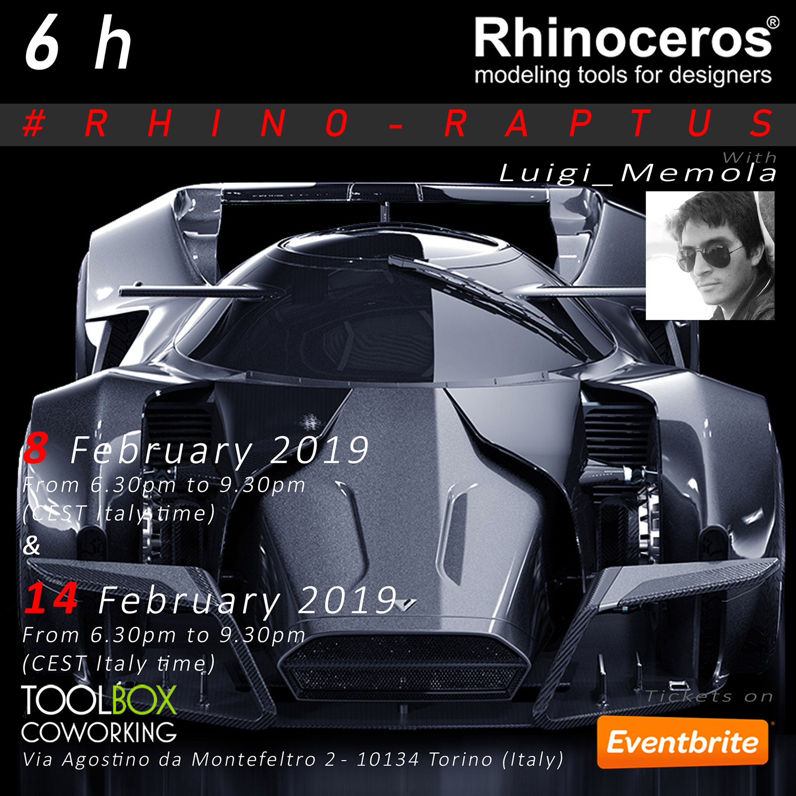 Luigi Memola launches new Rhino 3D Workshop - Car Body Design