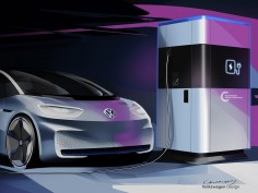 Volkswagen previews design of mobile charging station