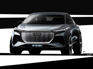 Audi Q4 e-tron Concept previewed with design sketches