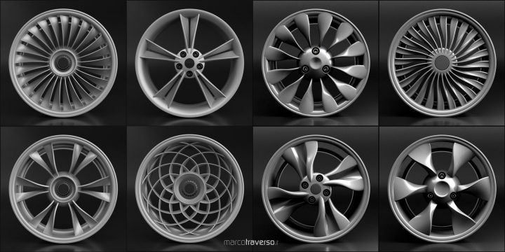 Car Wheel Designed with Rhino and Grasshopper