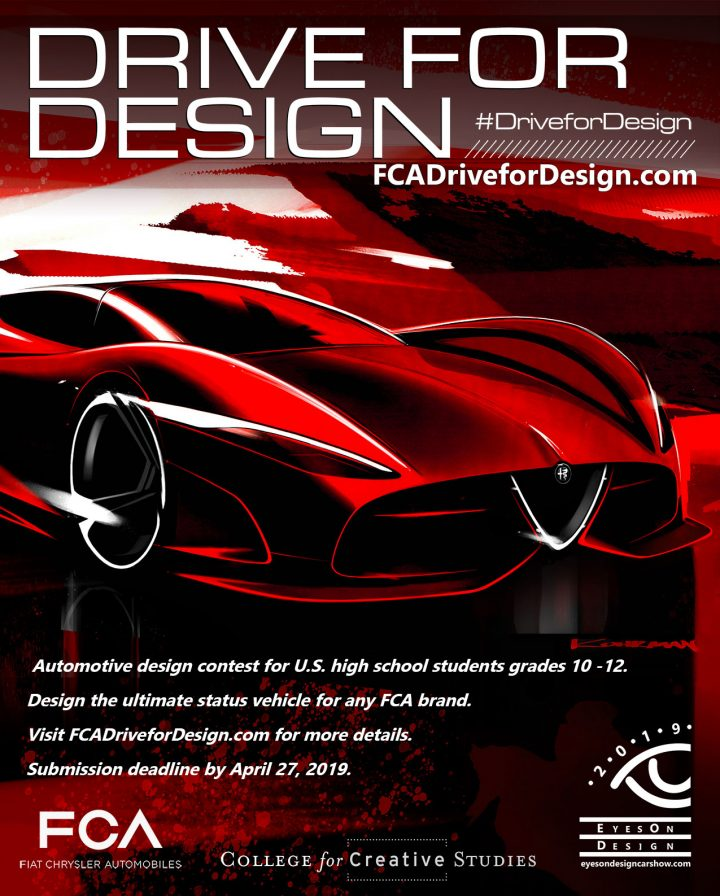 FCA US Drive for Design 2019 Contest Poster
