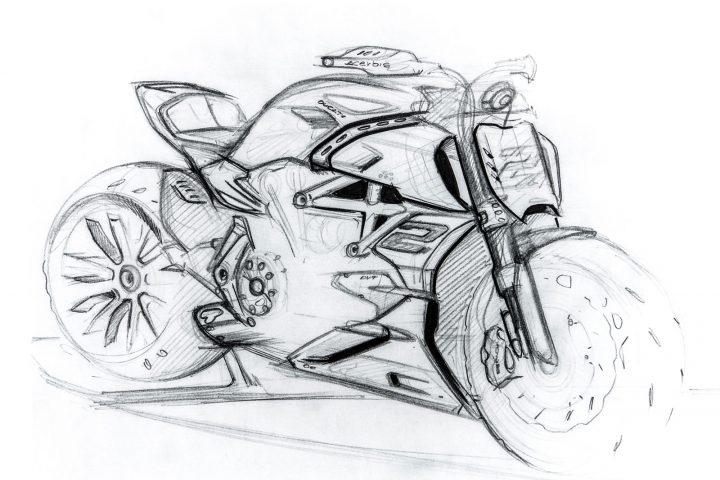 Ducati Diavel 1260 Design Sketch