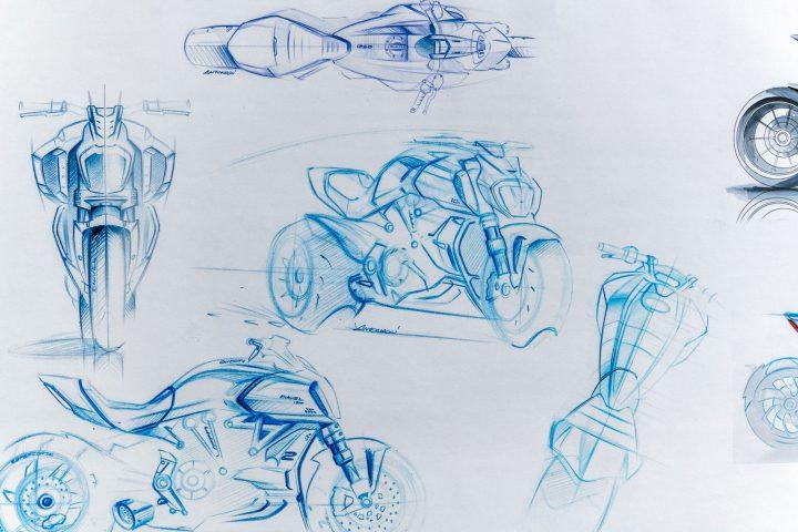Ducati Diavel 1260 Design Sketches