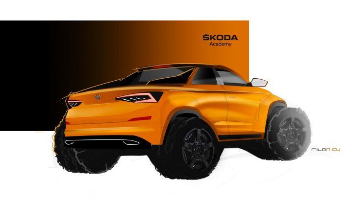 2019 Skoda Student Concept Car Design Sketch