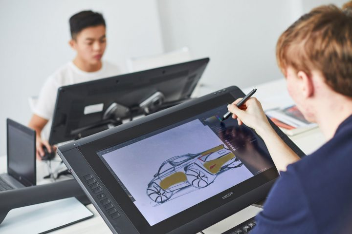 2019 Skoda Student Concept Car Design Sketching on the Cintiq