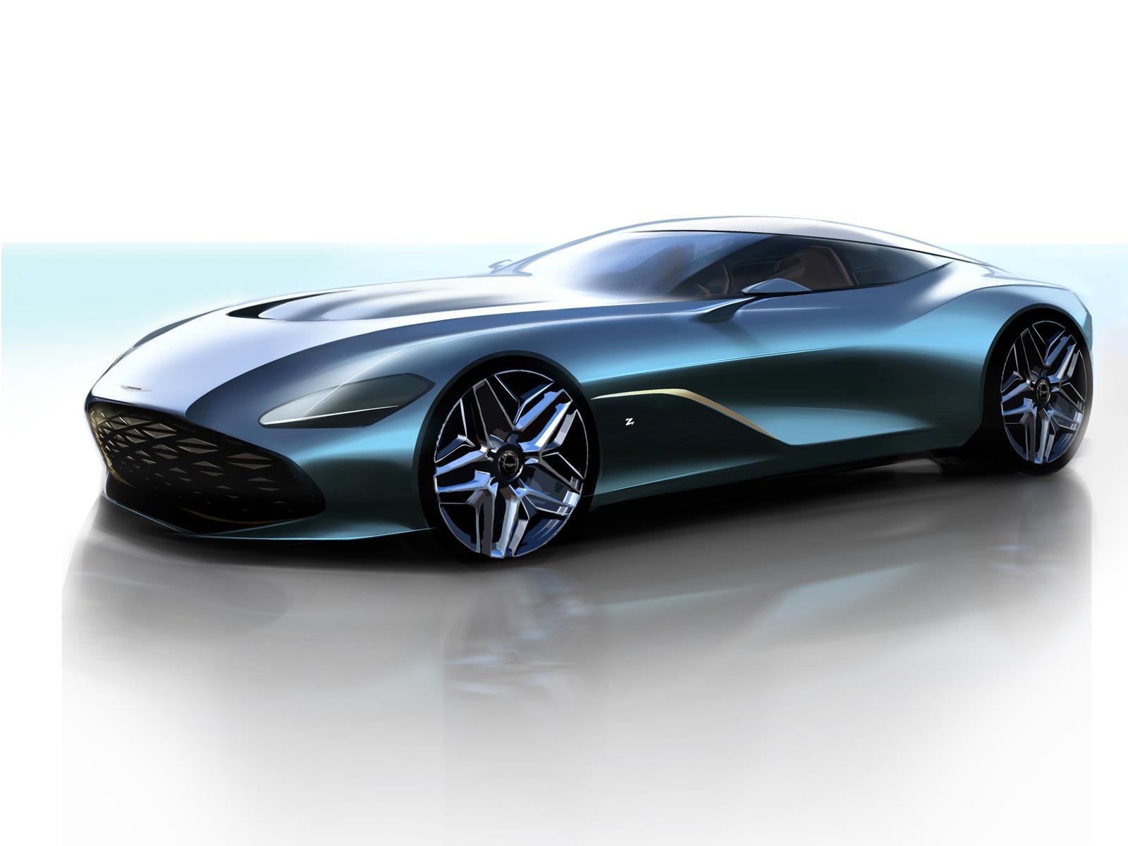 Aston Martin Dbs Gt Zagato Design Sketch Render Car Body Design