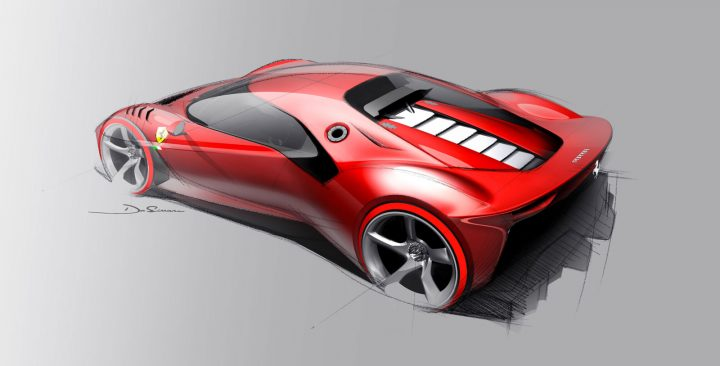 Ferrari P80 C Design Sketch
