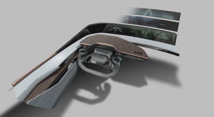 Audi AI.me Concept Interior Design Sketch Render
