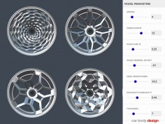 Creating Interactive 3D Models: Parametric Car Wheel Design Demo