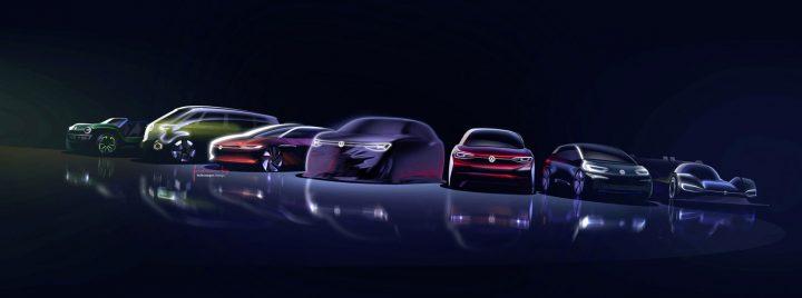 Volkswagen ID. Concept Model Family Design Sketch Render