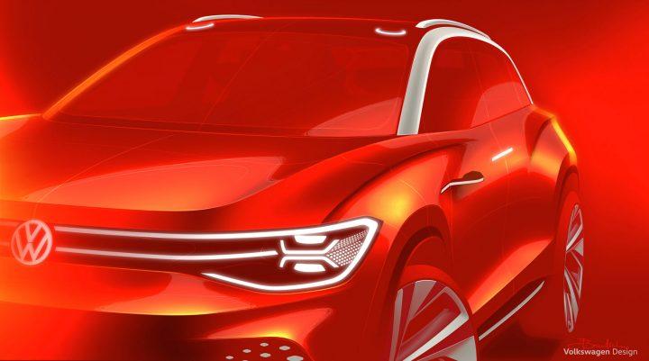 Volkswagen ID. Roomzz Concept Design Sketch Render