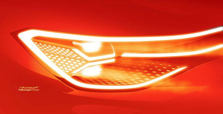 Volkswagen ID. Roomzz Concept Headlight Design Sketch Render