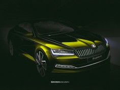 Škoda Superb restyled: design sketch