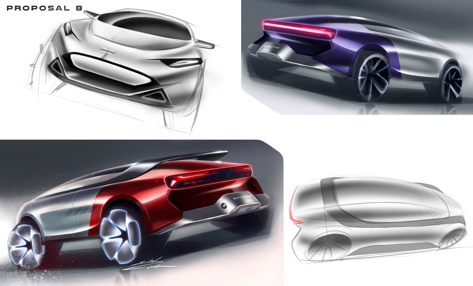 Concept Design Sketches by Jihed Zaier Car Design Academy