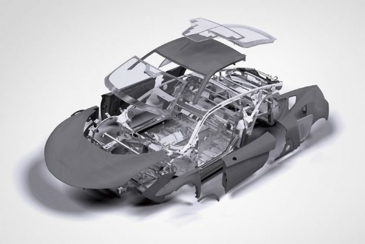 Mullen Qiantu K50 Aluminum Spaceframe Structure and Carbon Body Panels