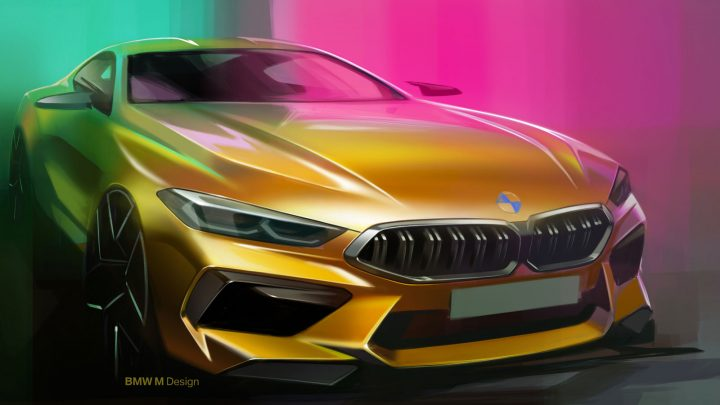 BMW M8 Coupe Design Sketch Render