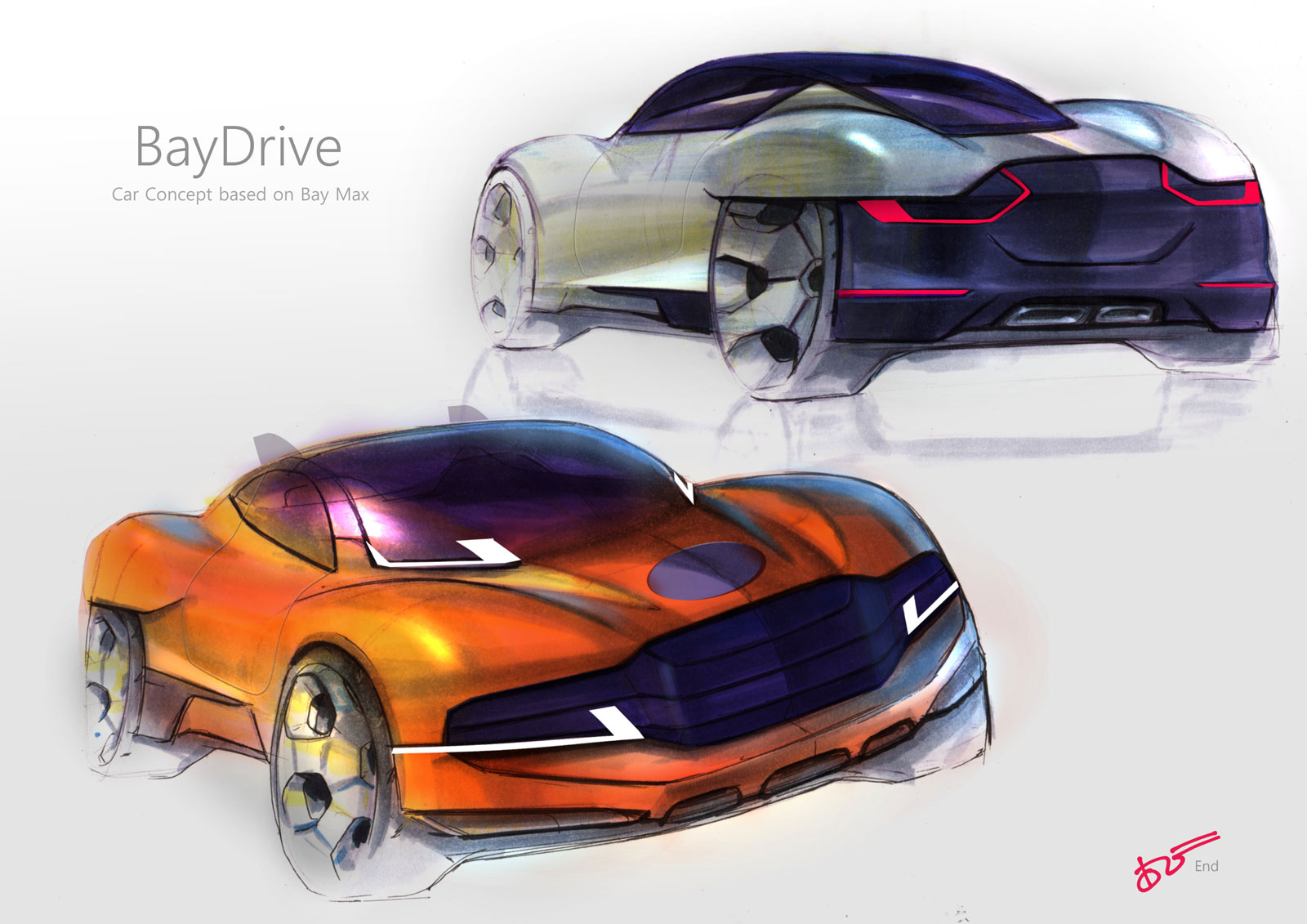 BayDrive Concept Design Sketches by Agri Bisono