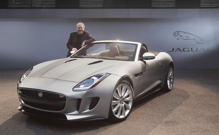 Jaguar Director of Design Ian Callum with the F TYPE