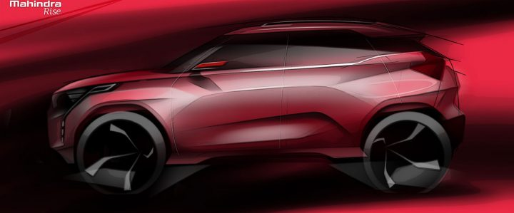 Mahindra XUV300 Design Sketch Render