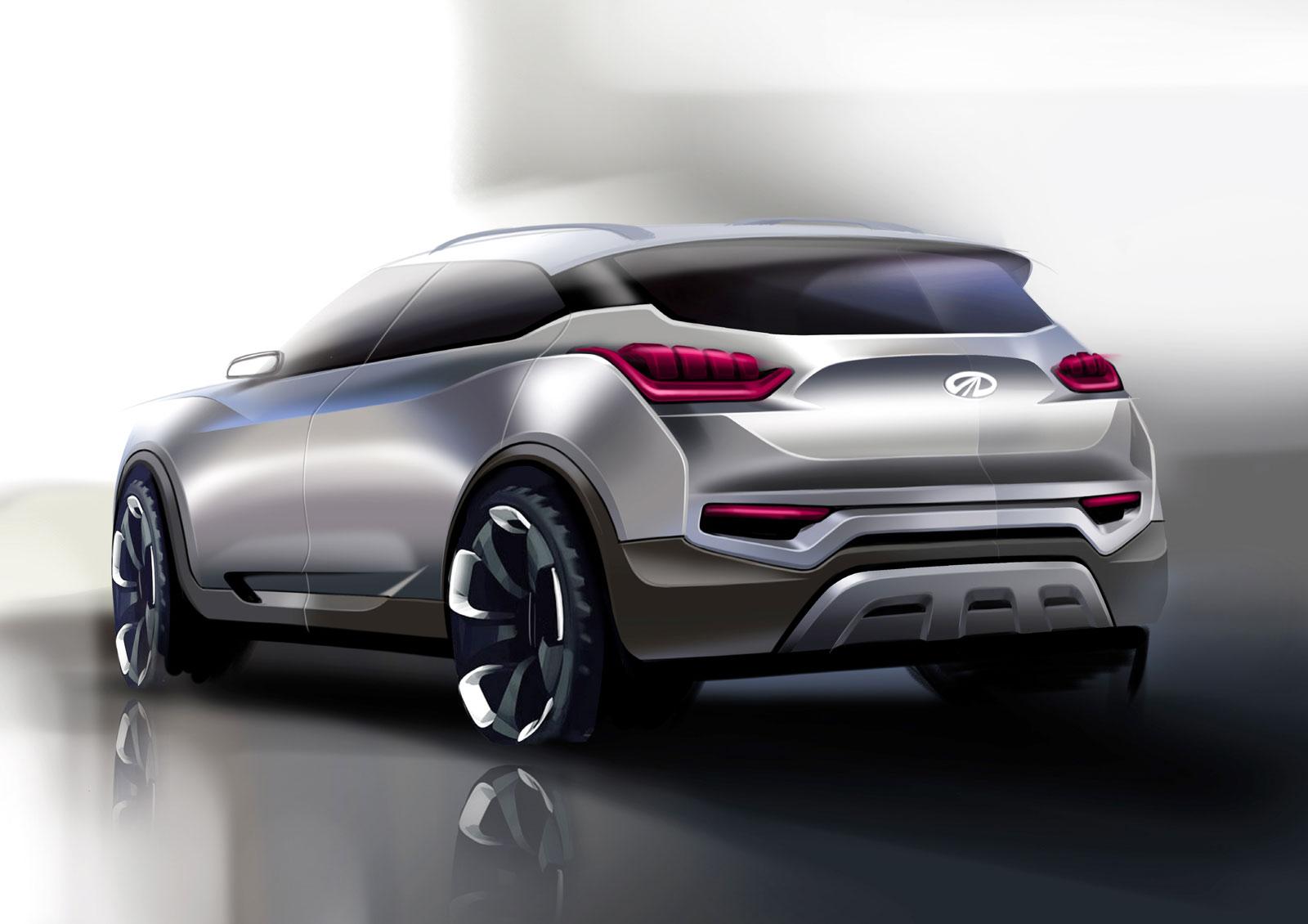 Mahindra XUV300 Design Sketch Render - Car Body Design