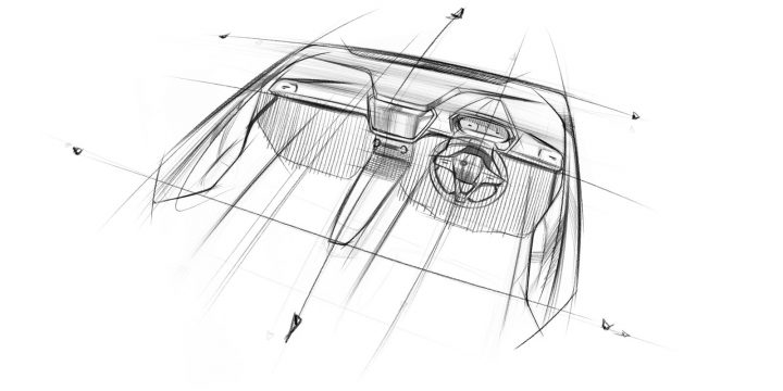 Mahindra XUV300 Interior Key Design Sketch