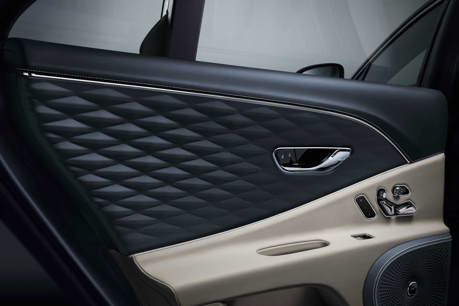 New Bentley Flying Spur Interior 3d Leather Door Panel