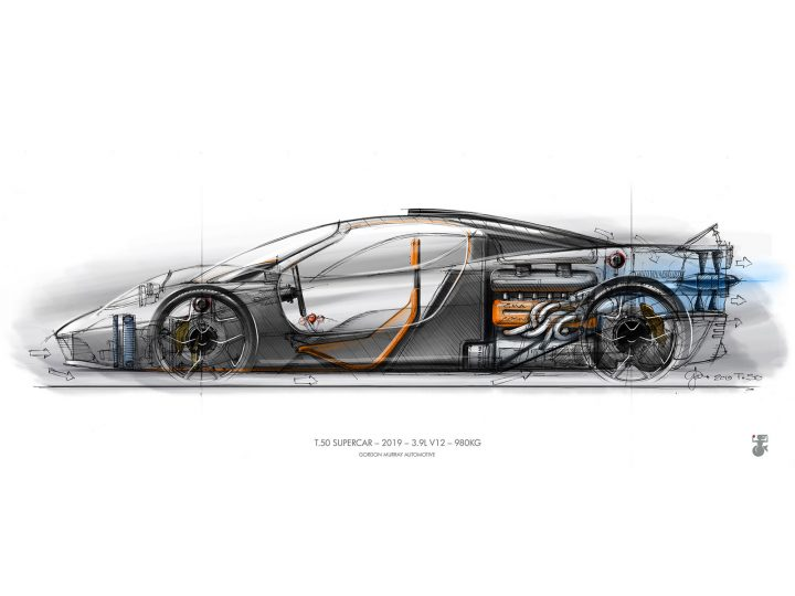 T.50 Design Sketch by Gordon Murray