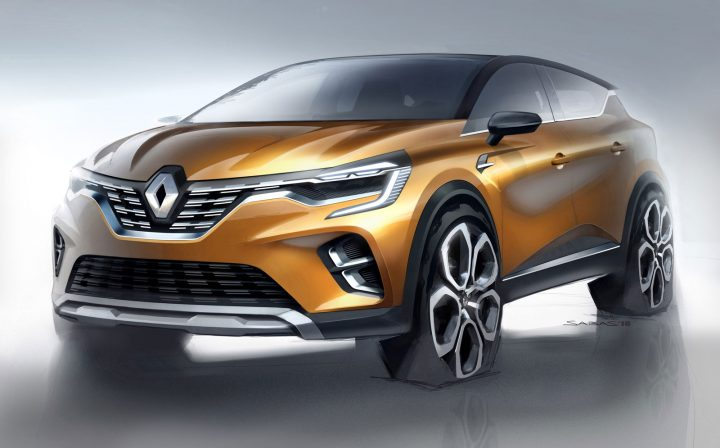 New Renault Captur Design Sketch Render