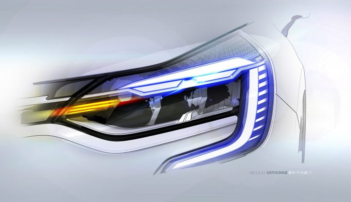 New Renault Captur Headlight Design Sketch Render