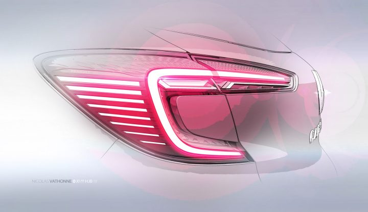 New Renault Captur Tail Light Design Sketch Render
