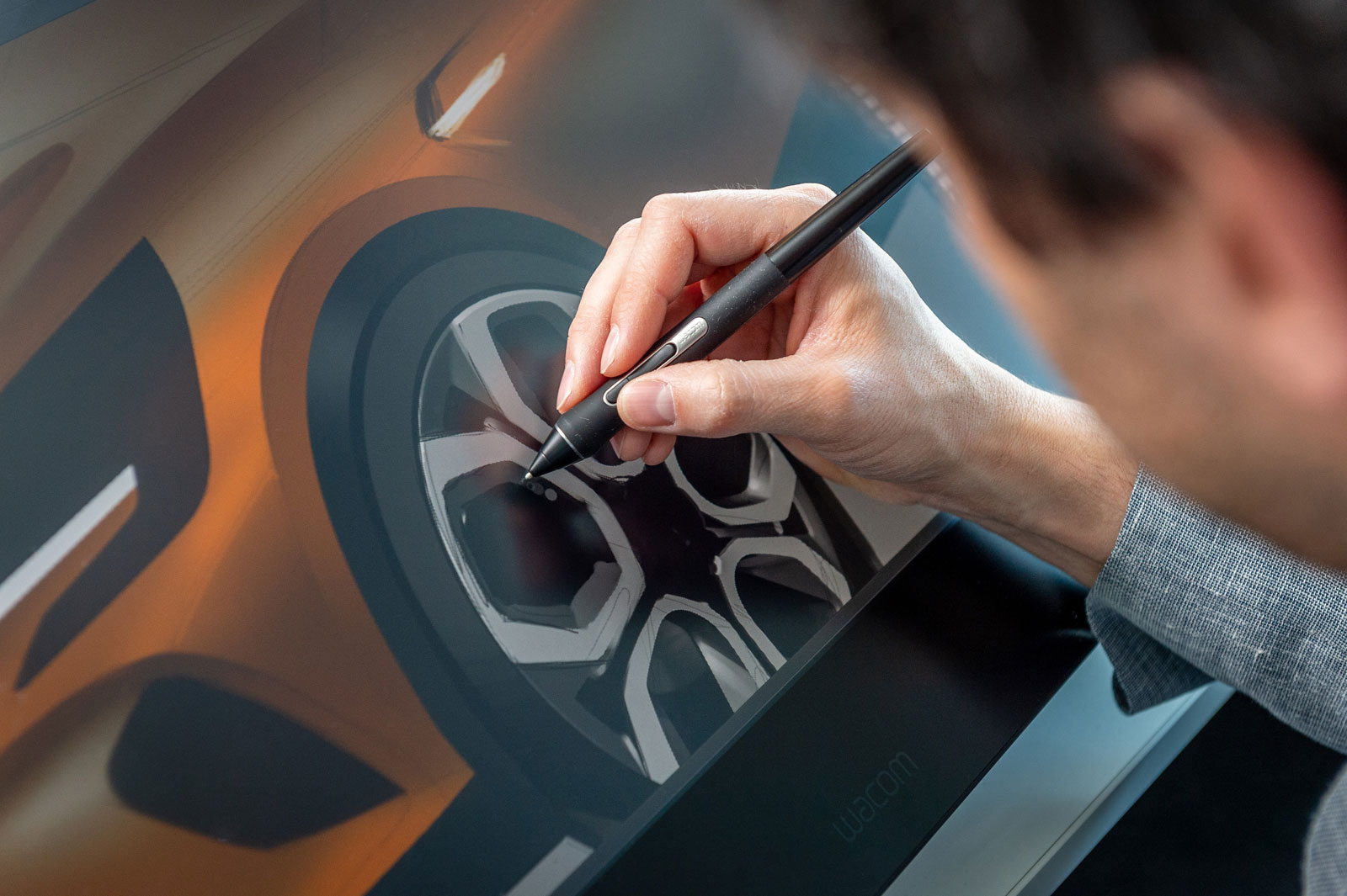 New Renault Captur Design Process Design Sketching on the Cintiq
