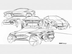 New BMW X6: design sketches
