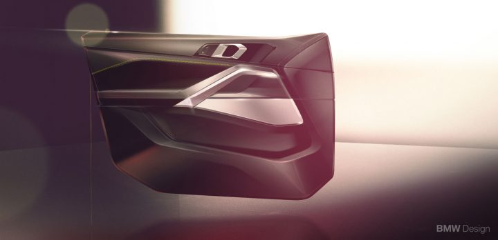 New BMW X6 Interior Design Sketch Render