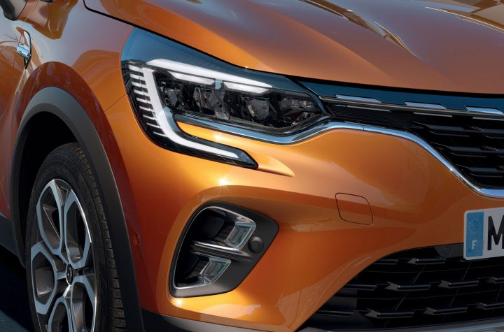 New Renault Captur Headlight and front end detail