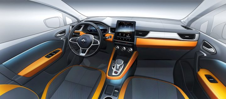 New Renault Captur Interior Design Sketch Render