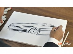 BMW designer Calvin Luk sketches the BMW Z4