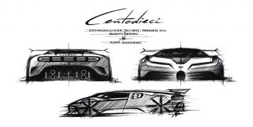 Bugatti Centodieci Design Sketches