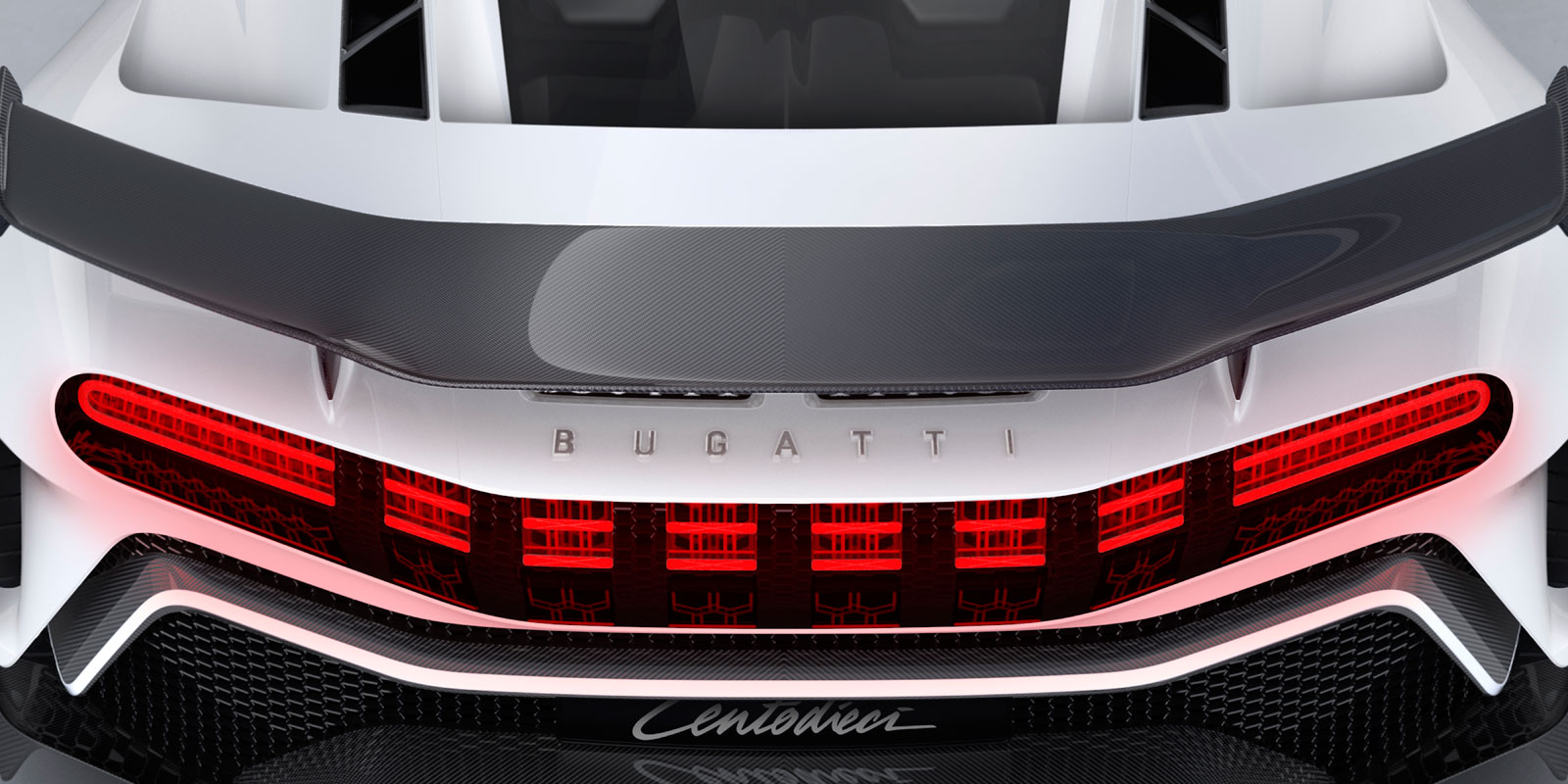 Bugatti Centodieci Rear end detail
