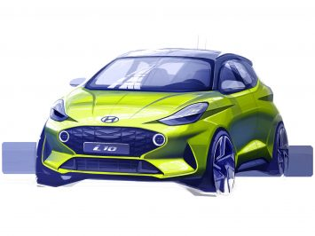 Hyundai new i10 Design Sketch Render
