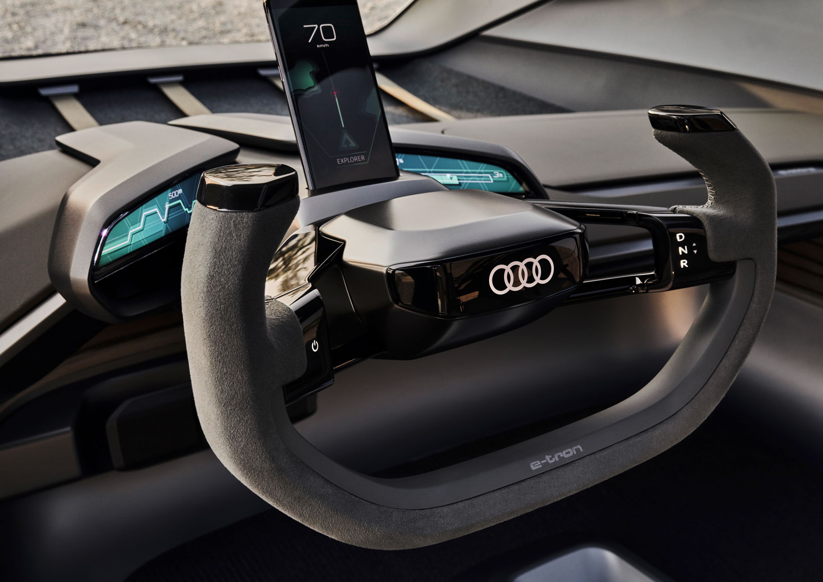 Audi AI Trail quattro Concept Interior Design Steering Wheel
