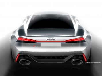 Audi RS 7 Sportback Design Sketch Render